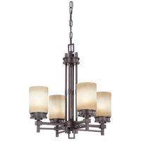 Nuvo Lighting Wright 4 Light Chandelier in Prairie Bronze 60/4607 photo thumbnail