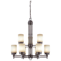 Nuvo Lighting Wright 9 Light Chandelier in Prairie Bronze 60/4609 photo thumbnail