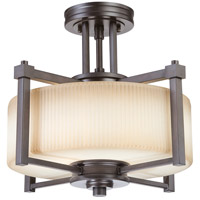 Nuvo Lighting Wright 2 Light Semi-Flush in Prairie Bronze 60/4613 photo thumbnail