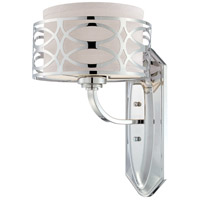 Harlow 1 Light 9 inch Polished  Nickel Vanity & Wall Wall Light