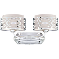 Nuvo Lighting Harlow 2 Light Vanity & Wall in Polished  Nickel 60/4622
