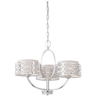 Nuvo 60/4624 Harlow 3 Light 25 inch Polished Nickel Chandelier Ceiling Light