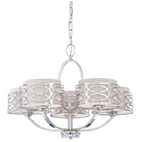 Nuvo Lighting Harlow 5 Light Chandelier in Polished  Nickel 60/4625