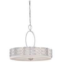 Harlow 4 Light 24 inch Polished  Nickel Pendant Ceiling Light