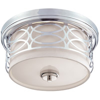 Harlow 2 Light 13 inch Polished  Nickel Flushmount Ceiling Light