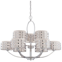 Nuvo Lighting Harlow 9 Light Chandelier in Polished  Nickel 60/4630