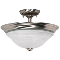 Nuvo 60/464 Triumph 2 Light 16 inch Brushed Nickel Semi-Flush Ceiling Light photo thumbnail