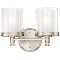 Nuvo 60/4642 Decker 2 Light 14 inch Brushed Nickel Vanity & Wall Wall Light