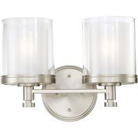 Nuvo Lighting Decker 2 Light Vanity & Wall in Brushed Nickel 60/4642 photo thumbnail