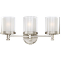 Nuvo 60/4643 Decker 3 Light 22 inch Brushed Nickel Vanity & Wall Wall Light