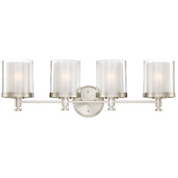 Nuvo 60/4644 Decker 4 Light 30 inch Brushed Nickel Vanity & Wall Wall Light