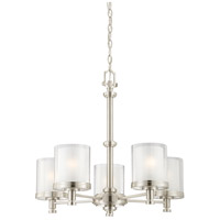 Nuvo 60/4645 Decker 5 Light 25 inch Brushed Nickel Chandelier Ceiling Light