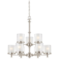 Nuvo Lighting Decker 9 Light Chandelier in Brushed Nickel 60/4649 photo thumbnail