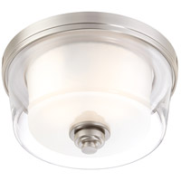 Nuvo 60/4651 Decker 2 Light 13 inch Brushed Nickel Flushmount Ceiling Light