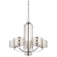 Nuvo Lighting Margaux 5 Light Chandelier in Polished Nickel 60/4665