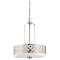 Nuvo Lighting Margaux 3 Light Pendant in Polished Nickel 60/4666 photo thumbnail
