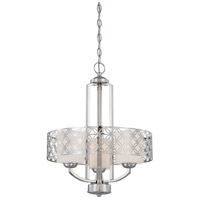Nuvo Lighting Margaux 3 Light Chandelier in Polished Nickel 60/4667
