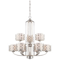 Nuvo Lighting Margaux 9 Light Chandelier in Polished Nickel 60/4669 photo thumbnail