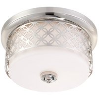 Nuvo Lighting Margaux 2 Light Flushmount in Polished Nickel 60/4671