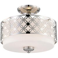 Nuvo Lighting Margaux 2 Light Semi-Flush in Polished Nickel 60/4672