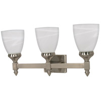 Nuvo 60/468 Triumph 3 Light 21 inch Brushed Nickel Vanity & Wall Wall Light photo thumbnail