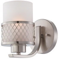 Nuvo 60/4681 Fusion 1 Light 5 inch Brushed Nickel Vanity & Wall Wall Light