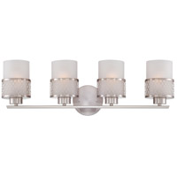 Fusion 4 Light 27 inch Brushed Nickel Vanity & Wall Wall Light