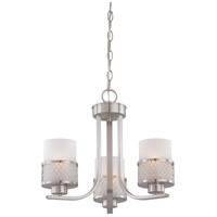 Nuvo Lighting Fusion 3 Light Chandelier in Brushed Nickel 60/4687