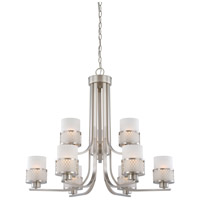 Nuvo 60/4689 Fusion 9 Light 31 inch Brushed Nickel Chandelier Ceiling Light