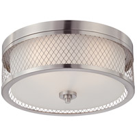 Nuvo 60/4691 Fusion 3 Light 15 inch Brushed Nickel Flushmount Ceiling Light
