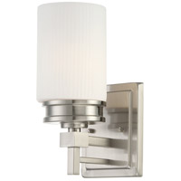 Wright 1 Light 5 inch Brushed Nickel Vanity & Wall Wall Light