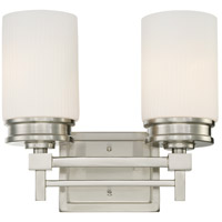Wright 2 Light 13 inch Brushed Nickel Vanity & Wall Wall Light