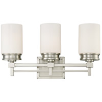 Nuvo 60/4703 Wright 3 Light 21 inch Brushed Nickel Vanity & Wall Wall Light