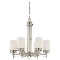 Nuvo 60/4705 Wright 6 Light 26 inch Brushed Nickel Chandelier Ceiling Light