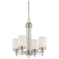 Nuvo 60/4707 Wright 4 Light 22 inch Brushed Nickel Chandelier Ceiling Light