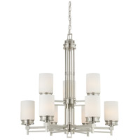Nuvo 60/4709 Wright 9 Light 32 inch Brushed Nickel Chandelier Ceiling Light