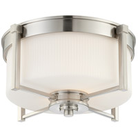 Wright 2 Light 15 inch Brushed Nickel Flushmount Ceiling Light