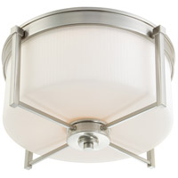Wright 3 Light 19 inch Brushed Nickel Flushmount Ceiling Light