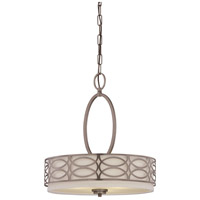 Harlow 3 Light 18 inch Hazel Bronze Pendant Ceiling Light