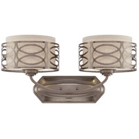 Nuvo Lighting Harlow 2 Light Vanity & Wall in Hazel Bronze 60/4722