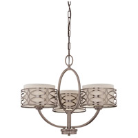 Nuvo 60/4724 Harlow 3 Light 25 inch Hazel Bronze Chandelier Ceiling Light photo thumbnail