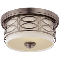 Harlow 2 Light 13 inch Hazel Bronze Flushmount Ceiling Light