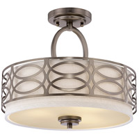 Harlow 3 Light 15 inch Hazel Bronze Semi-Flush Ceiling Light