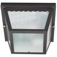 Signature 2 Light 9 inch Black Outdoor Flushmount