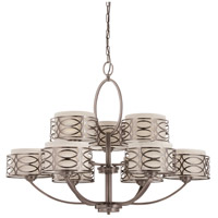 Nuvo Lighting Harlow 9 Light Chandelier in Hazel Bronze 60/4730