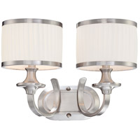Nuvo 60/4732 Candice 2 Light 16 inch Brushed Nickel Vanity Light Wall Light