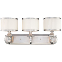 Nuvo 60/4733 Candice 3 Light 25 inch Brushed Nickel Vanity Light Wall Light
