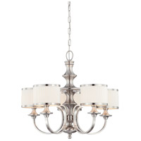 Nuvo 60/4735 Candice 5 Light 28 inch Brushed Nickel Chandelier Ceiling Light