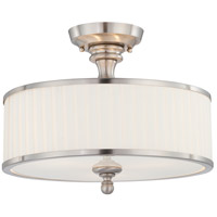 Nuvo 60/4737 Candice 3 Light 15 inch Brushed Nickel Semi-Flush Ceiling Light