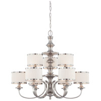 Nuvo 60/4739 Candice 9 Light 36 inch Brushed Nickel Chandelier Ceiling Light